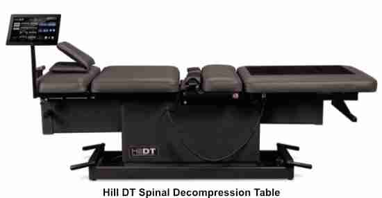 decompression tables should also allow treatment spine